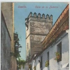 Postales: POSTAL SEVILLA CALLE DE LA JUDERIA NIÑO CON CANTARO ED. PURGER . Lote 140034978
