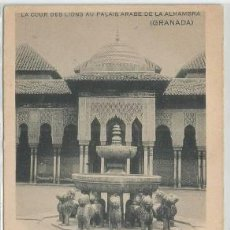 Postales: POSTAL PUBLICITARIA GRANADA ALHAMBRA VINOS RAMOS TELLEZ ED. HAUSER Y MENET N° 4 SIN DIVIDIR . Lote 140035318