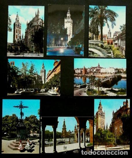 SEVILLA - LOTE 8 POSTALES DE SEVILLA CAPITAL - (AÑOS 60) - ED. VARIAS - VER TODAS LAS FOTOS (Postales - España - Andalucia Moderna (desde 1.940))