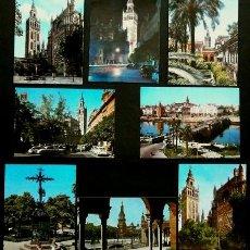 Postales: SEVILLA - LOTE 8 POSTALES DE SEVILLA CAPITAL - (AÑOS 60) - ED. VARIAS - VER TODAS LAS FOTOS. Lote 140443822