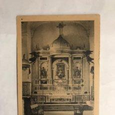 Postales: JIMENA DE LA FRONTERA (CÁDIZ) POSTAL. ALTAR MAYOR DEL SANTUARIO DE LA REINA DE LOS ÁNGELES (H.1920?). Lote 140452698