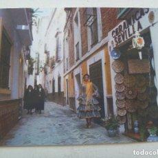 Postales: POSTAL DE SEVILLA : FLAMENCA Y MONJAS EN EL BARRIO DE SANTA CRUZ. Lote 140469870