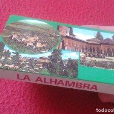 Postales: BLOC ACORDEÓN TACO TIRA DE IMÁGENES FOTOS PHOTOS FOTOGRAFÍAS LA ALHAMBRA EL GENERALIFE GRANADA VER F. Lote 140836142