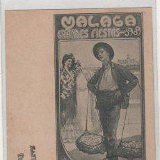 Postales: MÁLAGA GRANDES FIESTAS 1909. PREMIO DEL CONCURSO DE CARTELES. ENRIQUE JARABA JIMENEZ. CIRCULADA.. Lote 140881138