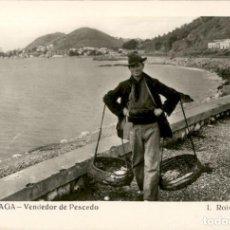Postales: 310 – MALAGA – VENDEDOR DE PESCADO – L. ROISIN – SC – POSTAL FOTOGRÁFICA.. Lote 140891790