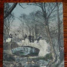 Postales: ANTIGUA POSTAL DE LA CAROLINA (JAEN) BALNEARIO DE LA ALISEDA, PUENTE DEL SUSPIRO, EDICION MARTINEZ P. Lote 141096350