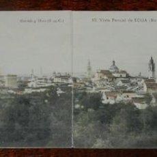 Postales: POSTAL DOBLE DE ECIJA, N. 9 Y 10 - VISTA PARCIAL Nº1 Y 2, ED. GARRIDO Y MORA, ESCRITA EN 1913, NO CI. Lote 141541934