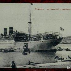 Postales: POSTAL DE ALMERIA, EL BARCO SANTIANNA CARGANDO UVA PARA NEW YORK, COLECCION TALCOSE 5, NO CIRCULADA,. Lote 141548826