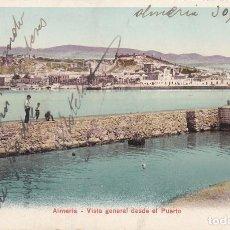 Postales: ALMERIA, VISTA GENERAL DESDE EL PUERTO. Lote 141776606
