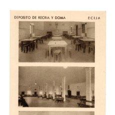 Postales: ECIJA (SEVILLA).- DEPOSITO DE RECRIA Y DOMA. CORTIJO. LAS ISLAS. DEPENDENCIAS DE TROPA. Lote 141812706