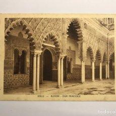 Postales: SEVILLA. ALCÁZAR. COUR PRINCIPAL. EDITA: BRAUN & CIE PARIS (H.1900?). Lote 142127294