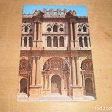 Postales: MALAGA CATEDRAL, FACHADA PRINCIPAL (SIN CIRCULAR). Lote 142464550