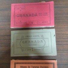 Postales: LOTE 3 BLOC CUADERNILLOS 70 POSTALES DIFERENTES GRANADA ED GRAFOS. Lote 142582698