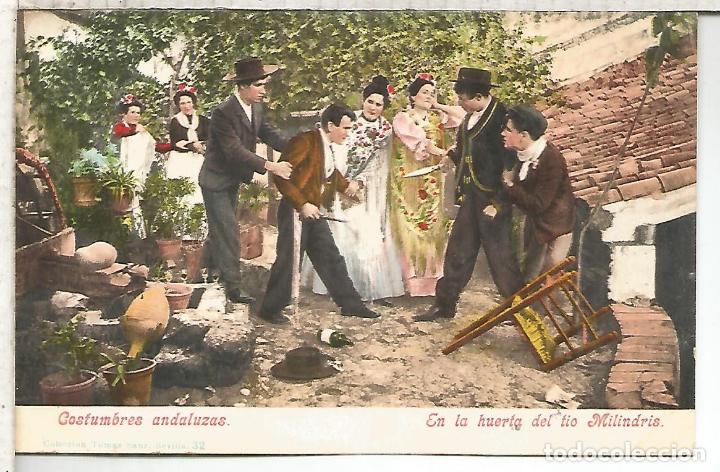 SEVILLA HUERTA DE MILINDRIS DORSO SIN DIVIDIR (Postales - España - Andalucía Antigua (hasta 1939))