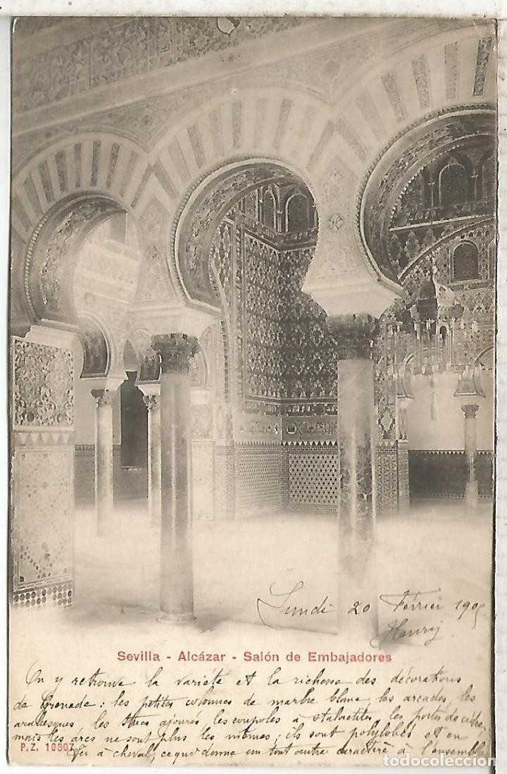 SEVILLA ALCAZAR DORSO SIN DIVIDIR (Postales - España - Andalucía Antigua (hasta 1939))