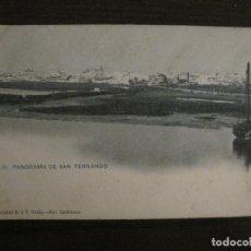 Postales: SAN FERNANDO-PANORAMA-FOT·CEMBRANO-HAUSER Y MENET-REVERSO SIN DIVIDIR-POSTAL ANTIGUA-(54.980). Lote 142918994