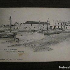 Postales: SAN FERNANDO-MUELLE-FOT·CEMBRANO-HAUSER Y MENET-REVERSO SIN DIVIDIR-POSTAL ANTIGUA(54.984). Lote 142919418