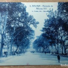 Postales: POSTAL 8. MÁLAGA. ALAMEDA DE ALFONSO XIII. Lote 143113974