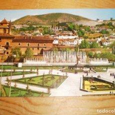 Postales: GRANADA JARDINES Y FUENTE MONUMENTAL DEL TRIUNFO ED. ARRIBAS 2053 SIN CIRCULAR. Lote 143407958
