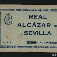 Postales: REAL ALCÁZAR DE SEVILLA.20 VISTAS. LIBRITO CON 20 POSTALES ( COMPLETO).. Lote 143640570