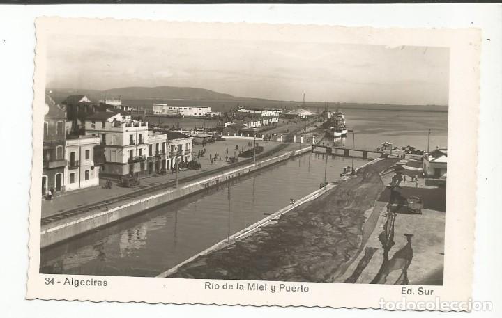 ALGECIRAS - RÍO DE LA MIEL Y PUERTO - Nº 34 ED. SUR (Postales - España - Andalucia Moderna (desde 1.940))