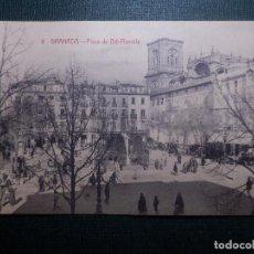 Postales: TARJETA POSTAL - GRANADA - 9.- PLAZA DE BIB-RAMBLA - CASTAÑEIRA, ALVAREZ Y LEVENFELD - SIN CIRCULAR. Lote 144431886