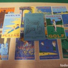 Postales: MAGNIFICA COLECCION DE 10 POSTALES PATRONATO TURISMO DE HUELVA. ILSUTRACIONES DE MARINE/ BOYER. Lote 144537282