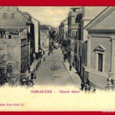 Postales: CÁDIZ POSTAL DE GIBRALTAR CHURCH STREET. Nº 8 THE ARTISTIC POST CARD CO. - SIN CIRCULAR SIN DIVIDIR. Lote 145714522