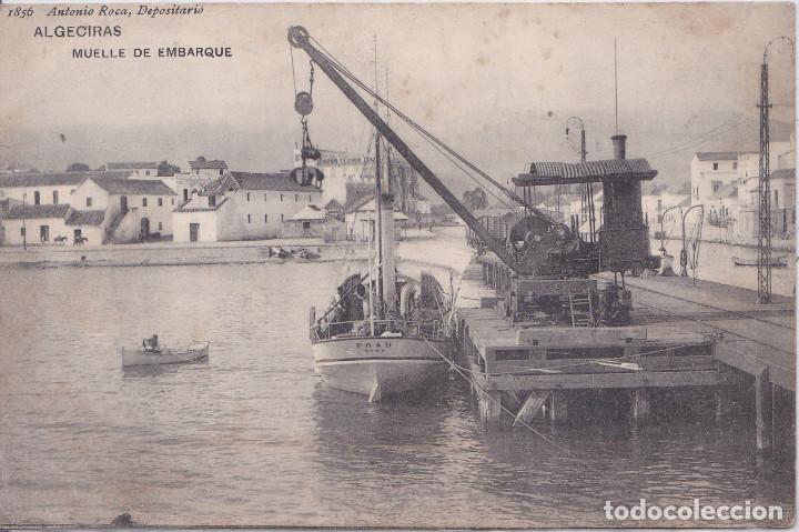ALGECIRAS (CADIZ) - MUELLE DE EMBARQUE - ANTONIO ROCA - DEPOSITARIO (Postales - España - Andalucía Antigua (hasta 1939))