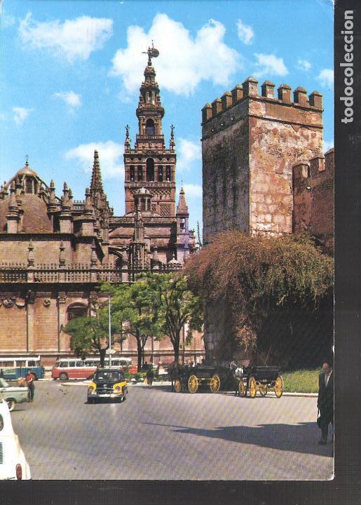MURALLA DE LOS REALES ALCÁZARES. LA GIRALDA. SEVILLA. (Postales - España - Andalucia Moderna (desde 1.940))