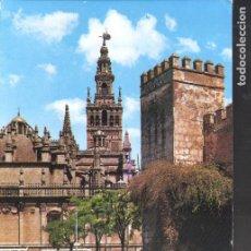 Postales: MURALLA DE LOS REALES ALCÁZARES. LA GIRALDA. SEVILLA.. Lote 146369806