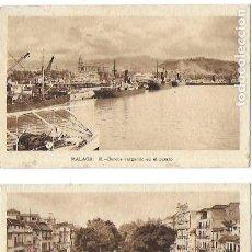 Postales: P- 9030. PAREJA POSTALES DE MALAGA, Nº 14 Y 15, M.ARRIBAS.. Lote 147026082