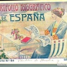 Postales: PORTFOLIO FOTOGRÁFICO DE ESPAÑA- SEVILLA-CAZALLA-CARMONA-UTRERA-HUELVA-MOGUER-AYAMONTE-LA PALMA-ETC.. Lote 147473558