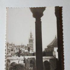 Postales: SEVILLA REALES ALCAZARES PATIO DE LA MONTERIA Y LA GIRALDA. Lote 147792894