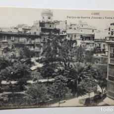 Postales: CADIZ PARQUE DE GUERRA JIMENEZ Y TORRE DE TAVIRA. Lote 147793058