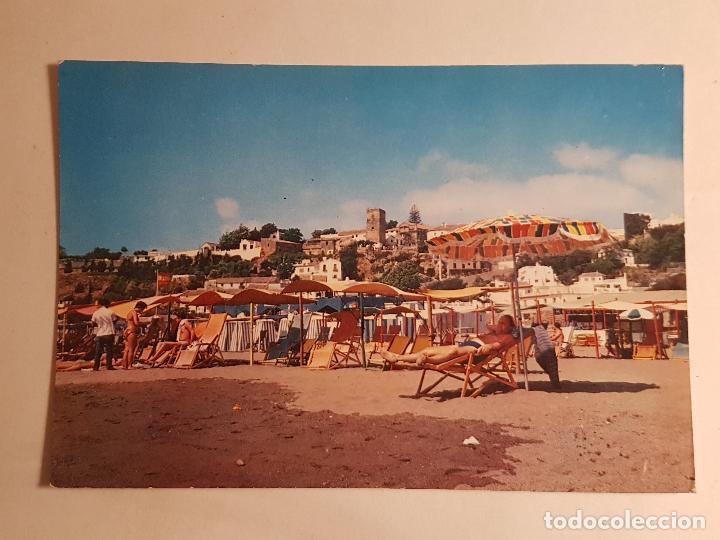TORREMOLINOS, MALAGA, VISTA DESDE LA PLAYA (Postales - España - Andalucía Antigua (hasta 1939))