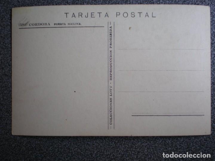 Postales: CÓRDOBA PUERTA MAILINA POSTAL FOTOGRÁFICA CASA LOTY PPIOS SIGLO - Foto 2 - 34861255