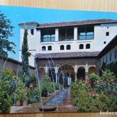 Postales: GRANADA GENERALIFE PATIO DE LA ACEQUIA Nº 26 - ED. GRAFICO PUBLICITARIAS. Lote 148066922