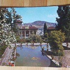 Postales: GRANADA LA ALAMBRA JARDINES DEL PORTAL. Lote 148322310