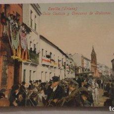 Postales: ANTIGUA POSTAL.CALLE CASTILLA CONCURSO DE BALCONES.TRIANA.SEVILLA.TOMAS SANZ Nº 83. Lote 148496914