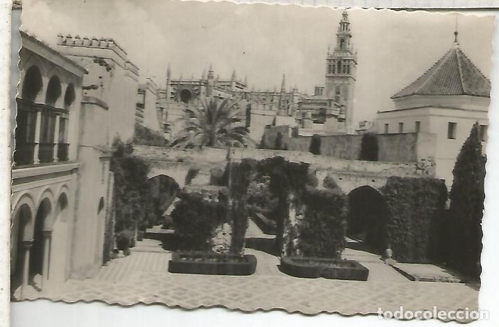 SEVILLA ALCAZAR ESCRITA (Postales - España - Andalucía Antigua (hasta 1939))