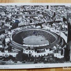 Postales: PLAZA DE TOROS DE SEVILLA Nº 97 VISTA AEREA ED. AEROTECNICA 1954. Lote 150794078