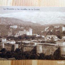 Postales: GRANADA LA ALHAMBRA Y LAS MURALLAS DE LA CIUDAD SERIE 555 Nº 8 ED. KNACKSTEDT Y NATHER. Lote 151037290