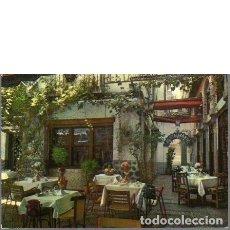 Postales: RESTAURANTE ALCAICERIA. GRANADA. 1968. SIN CIRCULAR. Lote 128772639