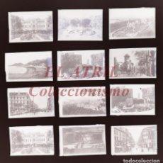Postales: 12 CLICHES ORIGINALES - MALAGA - NEGATIVOS EN CRISTAL - EDICIONES ARRIBAS. Lote 151219526