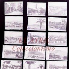 Postales: 20 CLICHES ORIGINALES - ALGECIRAS, CADIZ - NEGATIVOS EN CRISTAL - EDICIONES ARRIBAS. Lote 151220810