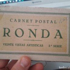 Postales: CARNET CON 16 POSTALES DE RONDA. ALGUNAS MUY BUENAS. . Lote 151222482
