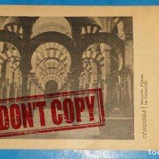 Postales: CORDOBA - MEZQUITA - LUIGI MASETTI - AÑO 1900 - SIN SELLO. Lote 151253410
