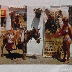Postales: 196 COSTA DEL SOL. VAMONOS A VER LOS TOROS. ESCUDO DE ORO. DOMINGUEZ. 1966 CIRCULADA. Lote 151401258