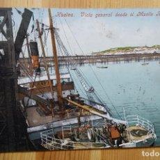 Postales: HUELVA VISTA GENERAL DEL MUELLE R.J. ED. PURGER & CO. Lote 152391986